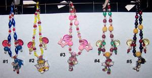 Sonic the Hedgehog Beaded Charm Bracelets by jordannamorgan