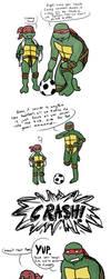 Don't Play Soccer Inside by ninja-doodler
