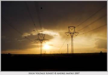 High Voltage Sunset by SchaF