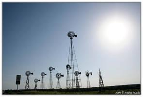 Texas Windmills by SchaF