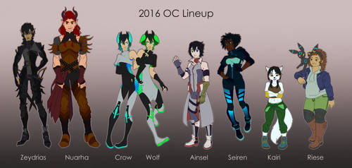 2016! OC Lineup (Part 1) by viiwolfe