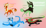 Adoptables Summer 2012 by Crazy-Dragon