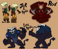Jek And Hyde Character Compilation by InvdrScar