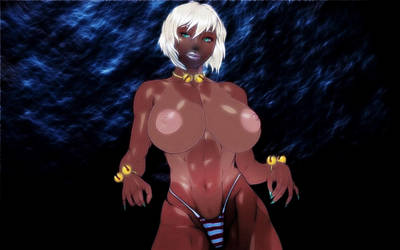 Dark Skin and Light Hair by Ketmiao by KetMiao