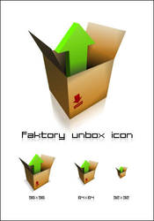 unbox icon by faktory
