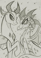 Thorax and Ember by RossmaniteAnzu