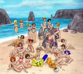 Cartoon M.I.L.F. Island by rocketdave