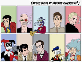 Favorite Characters Meme by rocketdave
