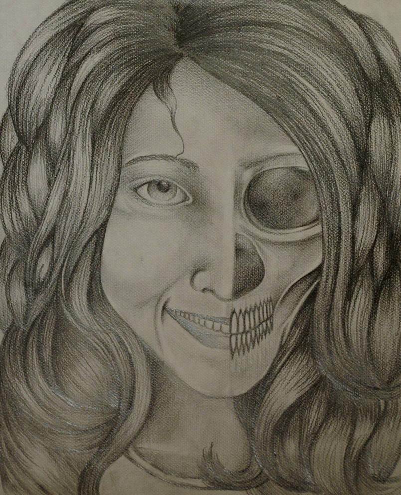 Half Skull Half Woman By Iamsamwow On Deviantart