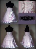 Pink Stripe Sweet Lolita Skirt by MissChubi