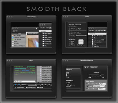 Smooth Black Theme for Mac by marsmuse