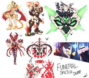 Funeral Sketch Dump. by endshark
