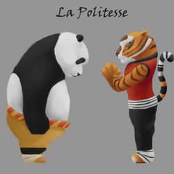 Kunfu Panda courtesy (Po and Tigress) by Shayaga