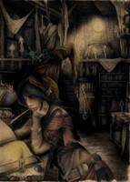 Bruja preparando pocima by Ilustralia