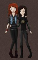Vicky and Lila by PirateLila