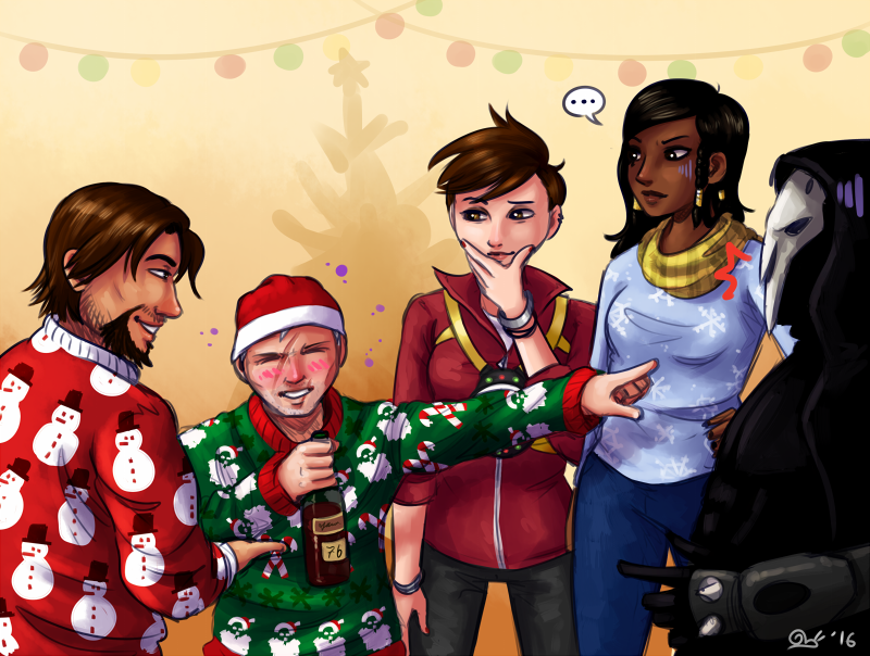 Overwatch Ugly Christmas Sweaters By Cargoleta On Deviantart