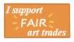 I Support Fair Art Trades Stamp by vera-san