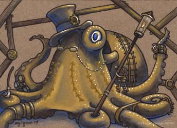 Steampunk Octopus by MegLyman