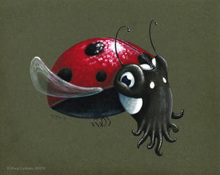 Ladybug Squid by MegLyman