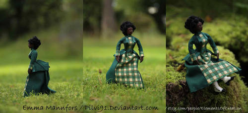 1/12 polymer clay doll - Mrs. Ida Crawford by Pilvi91