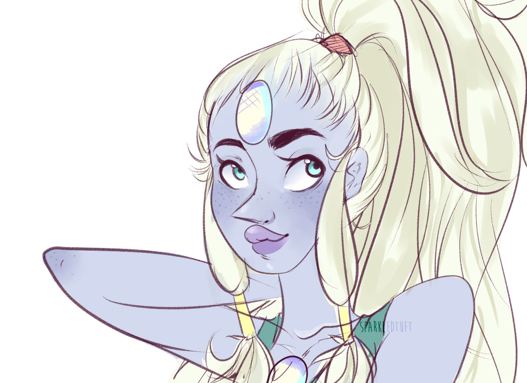 TBH ... i never managed to draw her but then *sighs* i found myself doodling her face , hair , , etc i love OPAL