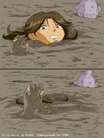 Jungle Girl Sinks in Quicksand #3 by A-020