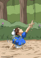 Chun Li in Quicksand 04 by A-020