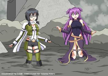 Shino and Miyuki in Quicksand 02 by A-020