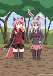 Reisen and Shina in Quicksand 01 by A-020