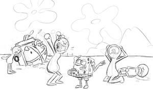 If Spongebob Uses The Meeseeks Box by eKarasz