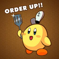 Fry Cook Kirby by eKarasz