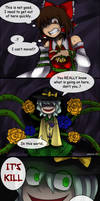 Touhou( x Undertale) Comics: Kill or Be Killed by aimturein