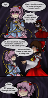 Touhou( x Undertale) Comics: Alright then.. by aimturein