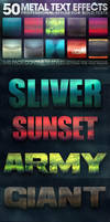 50 Metal Text Effects 2 of 5 by fluctuemos