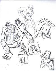 Gamer Sketch by HaruRed