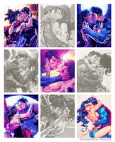 Superman and Wonder Woman by TouchofMink2