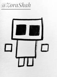 Crying Child Sketch by ZoraShah