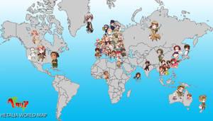 Hetalia World Map by Zal001