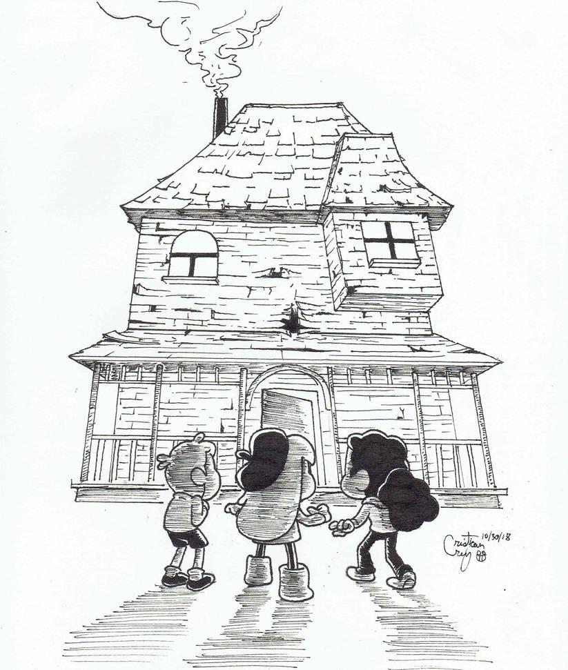 Inktober 2018 - Day 30: Haunted House by OchoBitAnimations