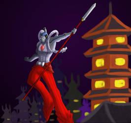 Warrior of Neo Olde Tokyo by KaterraTheAvatar