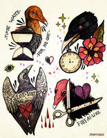 Love Lost - Tattoo Flash by Crowtesque