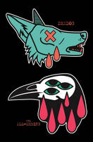 Pick One (enamel pins) by Crowtesque