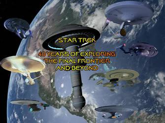Star Trek 40 Years by stick-man-11