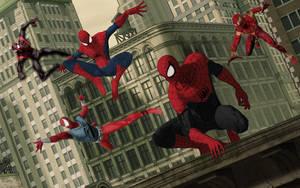 Marvel Spider-Men Assemble by stick-man-11