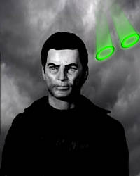 Captain Black Agent of The Mysterons by stick-man-11