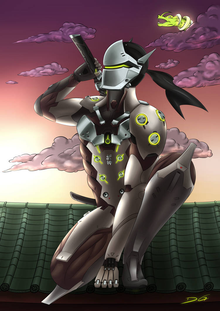 Genji Overwatch by DirtyGeneral