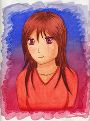 Watercolour Girl by DirtyGeneral
