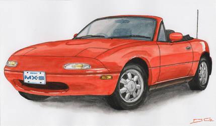 Mazda MX-5 Watercolour by DirtyGeneral