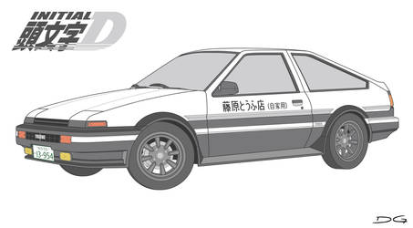 Toyota AE86 Trueno Initial D Vector by DirtyGeneral
