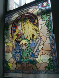 Zelda Wind Waker Stained Glass by seraphimpunk